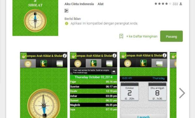 Kompas Arah Kiblat dan Sholat 630x380 - Ini Rekomendasi Aplikasi Android Penunjuk Arah Kiblat