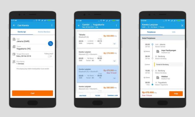 Tiket KAI Mobile 630x380 » Inilah Ragam Pilihan Aplikasi Android Untuk Booking Tiket Kereta Api